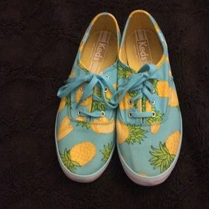 Cute summer sneakers with pineapple design